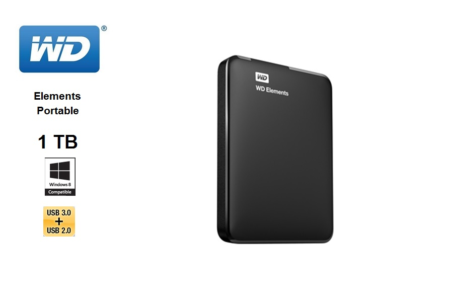 Western Digital Elements Portable 1 TB / USB 3.0 / negro