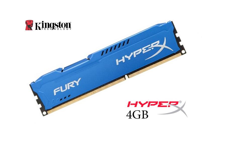 Kingston 4GB DDR3 HyperX Fury Blu 1600 Mhz