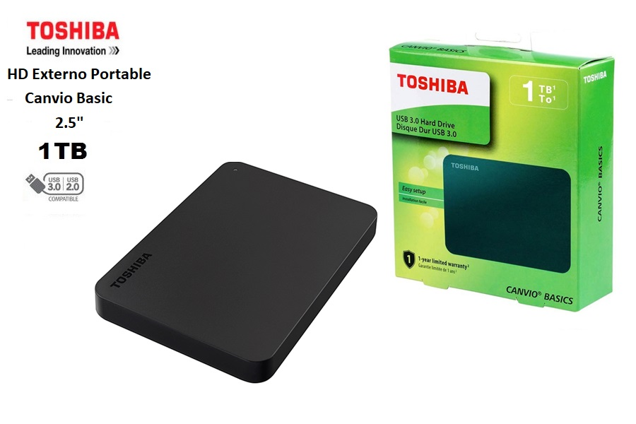 Toshiba Externo Portable Canvio Basics 1 TB USB 3.0