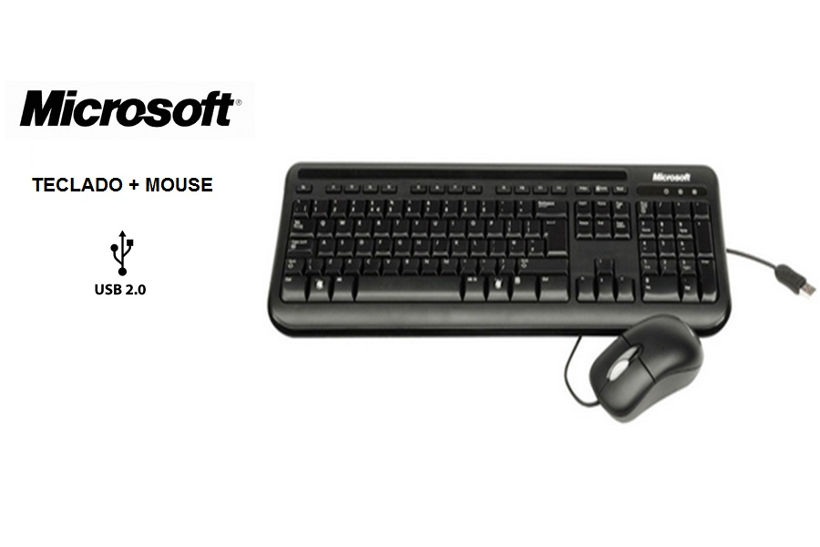 Microsoft Teclado + Mouse Desktop Wired 400 USB