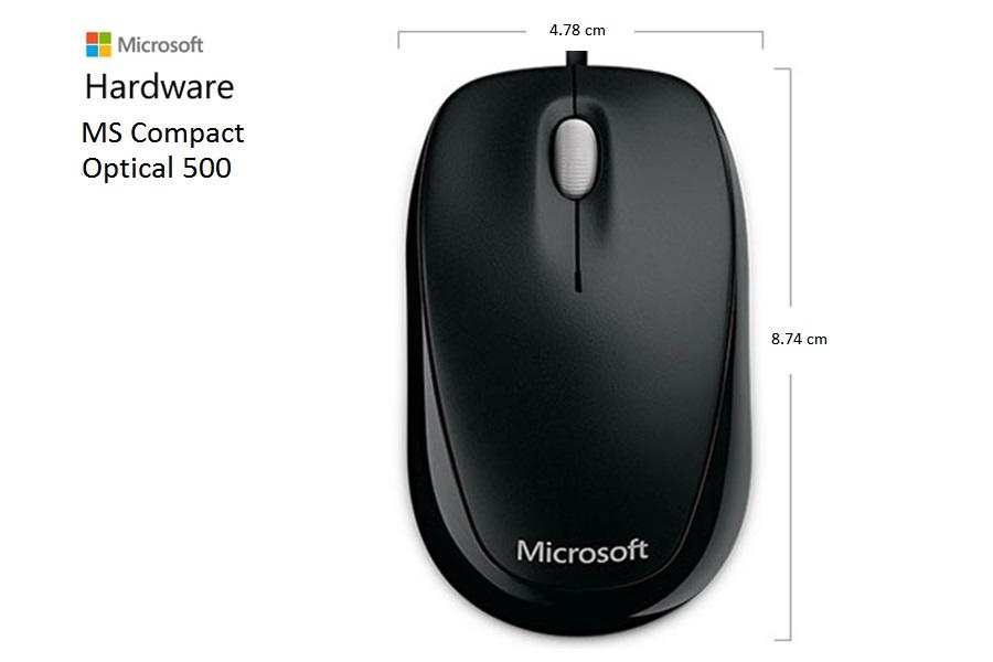 Mouse Microsoft Compact Optical Mouse 500 USB