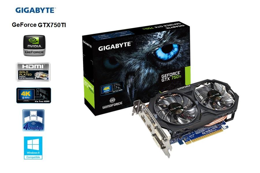 Gigabyte GeForce GTX 750 TI 2 GB / GDDR5