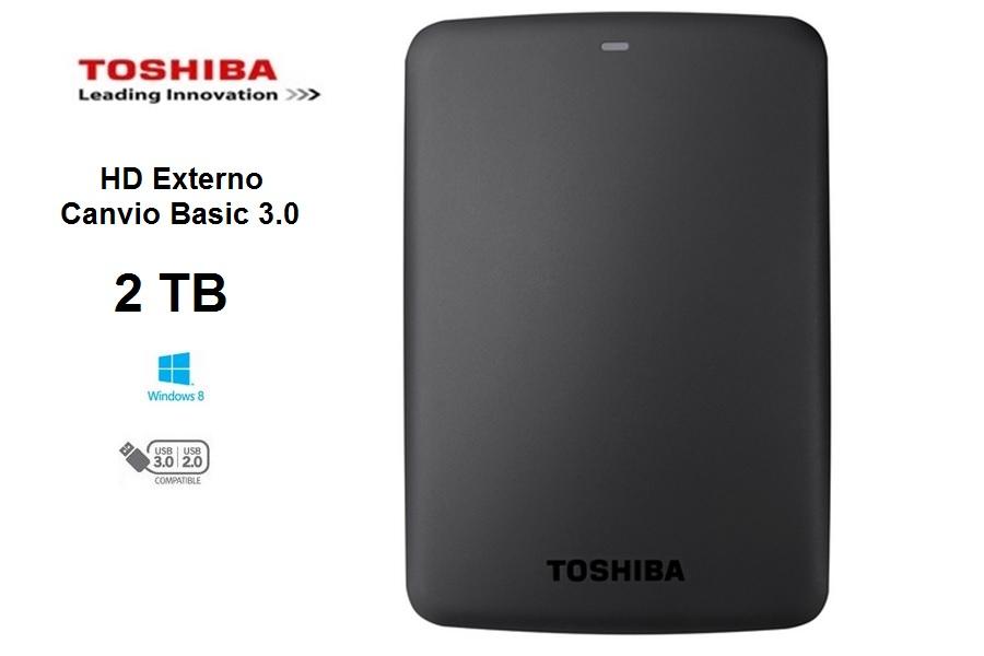Toshiba Externo Portable Canvio Basics  2 TB