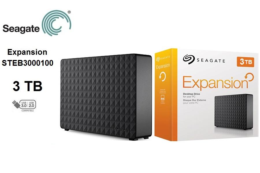 Seagate Expansion STEB3000100  3 TB  3.5″ USB 3.0