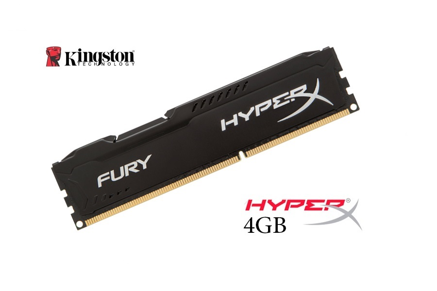 Kingston 4GB DDR3 HyperX Fury Black 1600 Mhz