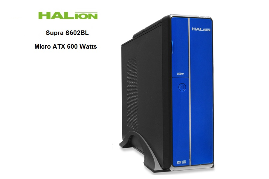Halion Slim Desktop Supra S602BL C/F 600 Watts