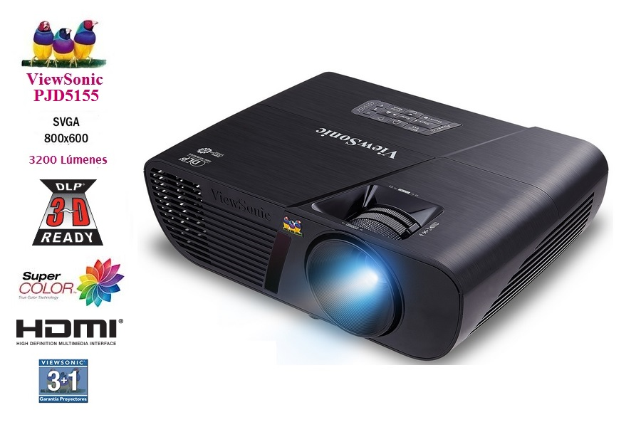 Viewsonic PJD5155 3200L  SVGA / HDMI