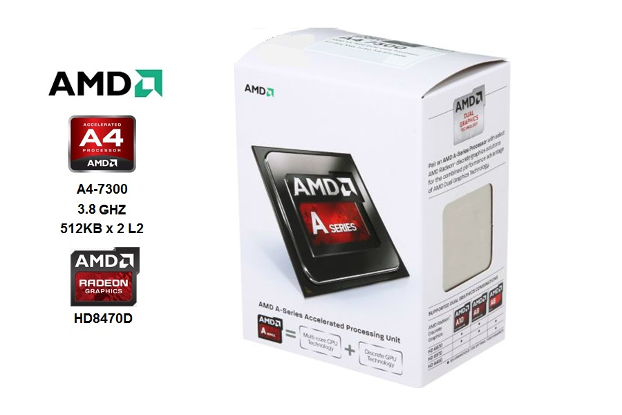 AMD Dual Core A4-7300 3.8 GHZ