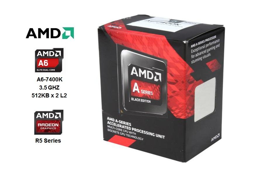 AMD Dual Core A6-7400K 3.5 GHZ