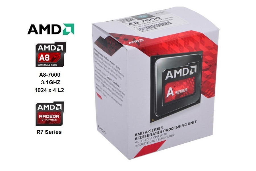 AMD Quad  Core A8-7600 3.1 GHZ SMF2+