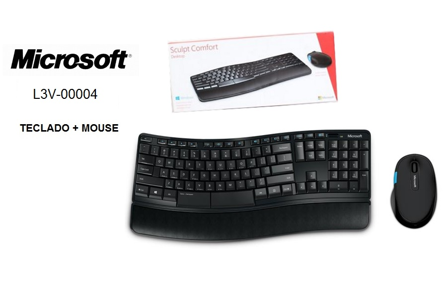 Microsoft Teclado y Mouse Wireless Sculpt Comfort Desktop