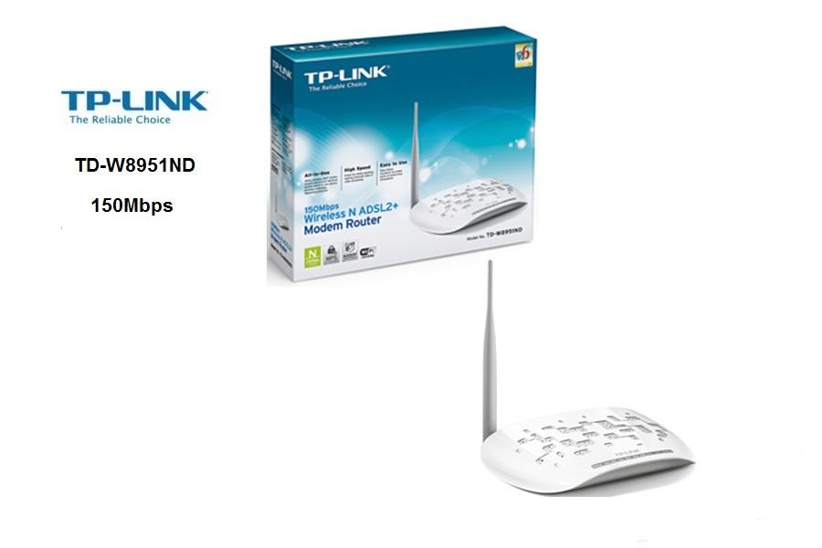 TP-Link TD-W8951ND  ADSL 4Puertos LAN WIFI 150N