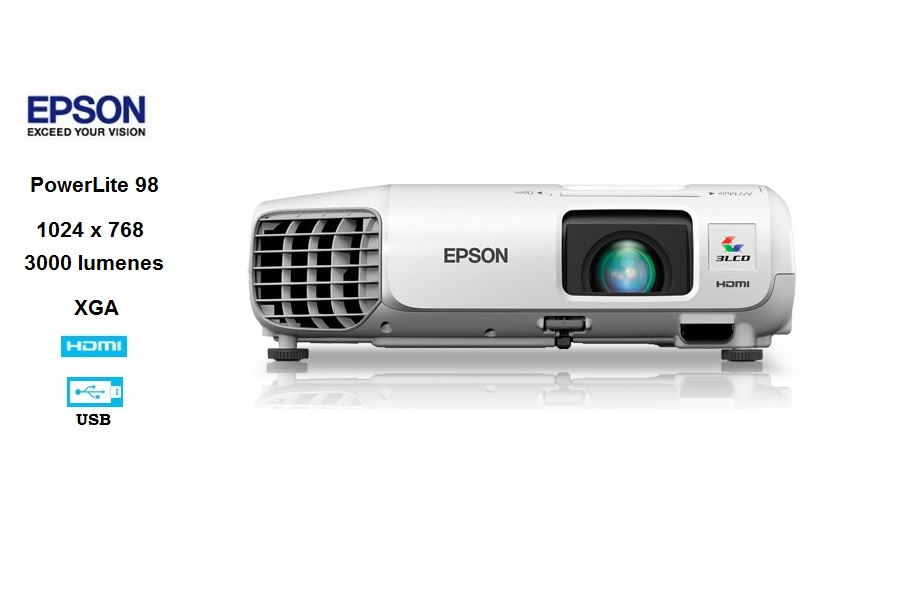 Epson PowerLite 98H, 3000L /XGA 1024 X 768 / Lan