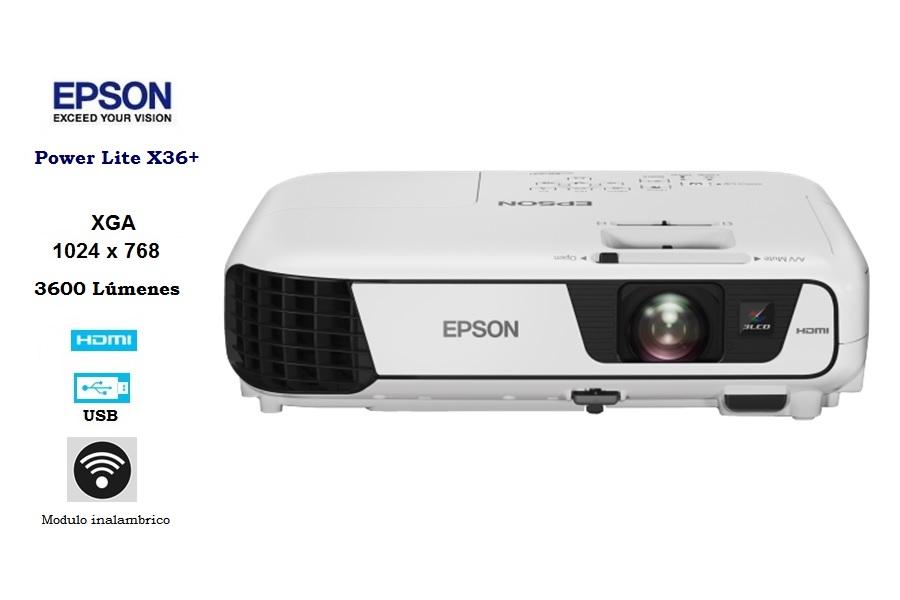 Epson PowerLite X36+ 3600L / XGA 1024×768